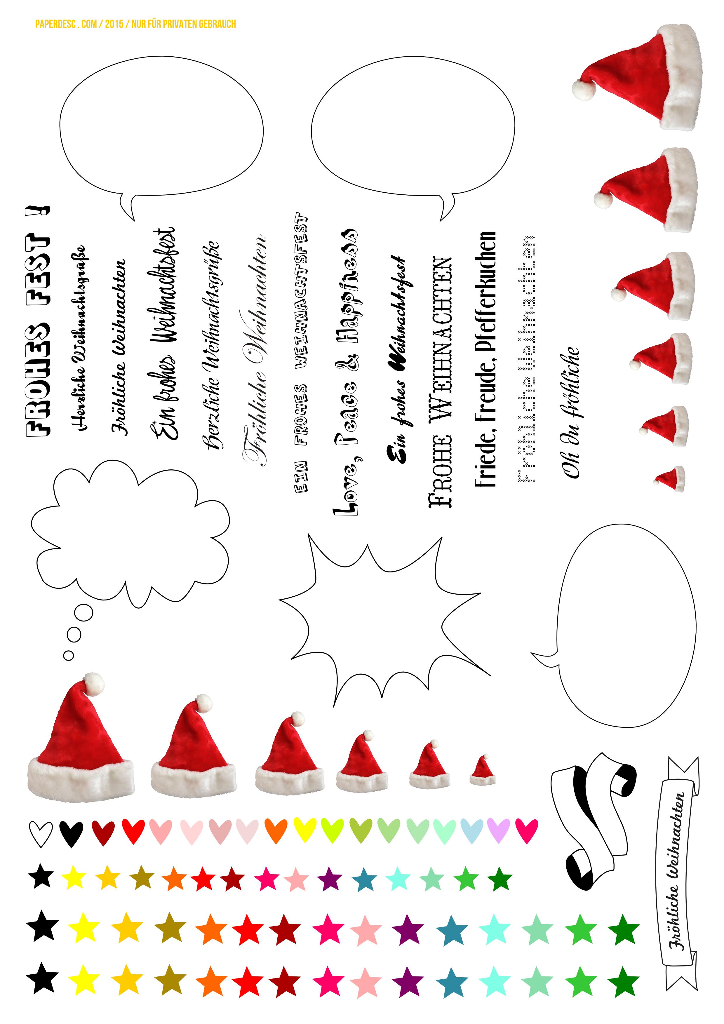 paper desc diy pimp your weihnachtskarte mit nikolausm tzen und sprechblasen zum ausdrucken. Black Bedroom Furniture Sets. Home Design Ideas