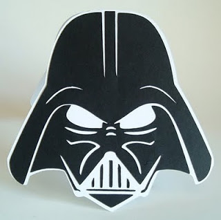 Star Wars Einladungskarte Von Cricut Card Iologist. Darth Vader Card Outside