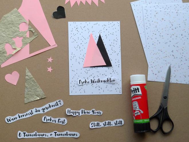 paper desc diy weihnachtskarten aus collagen selbst machen mit druckvorlagen. Black Bedroom Furniture Sets. Home Design Ideas