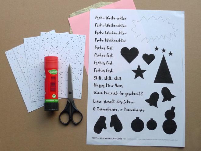 Diy Weihnachtskarte Printable Paperdesc 2016