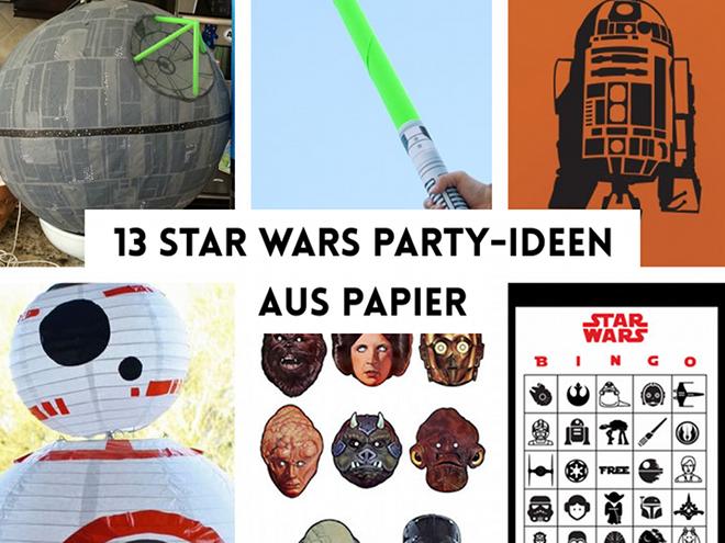 paper desc diy  star wars party ideen zum ausdrucken