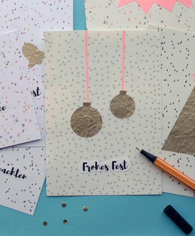 DIY Weihnachtskarten Aus Collagen Selbst Machen (mit Druckvorlagen)
