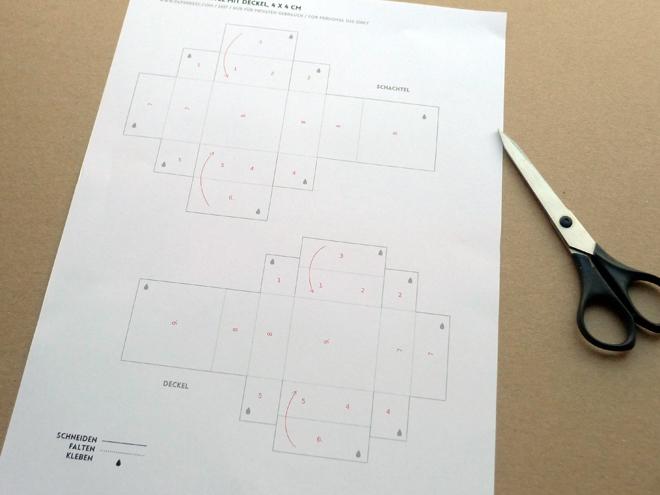 Paper Desc Printable Mini Papierschachtel Mit Deckel
